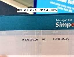 BPUM UMKM RP 2,4 JUTA